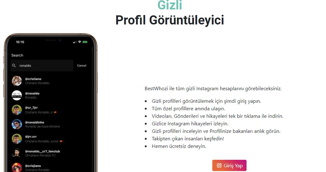 instagram'da kapali hesaplari gorme uygulamasi 2021