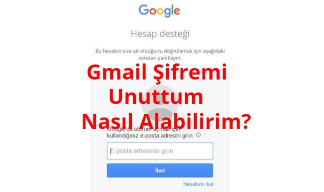 Gmail Sifremi Unuttum Nasil Alabilirim