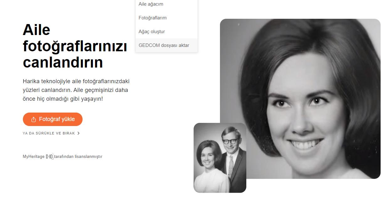 MyHeritage Fotograf Canlandirma Nasil Yapilir
