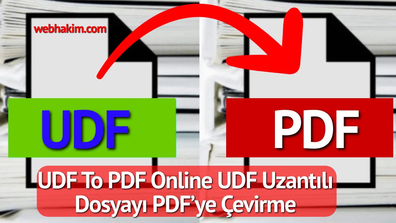 UDF To PDF