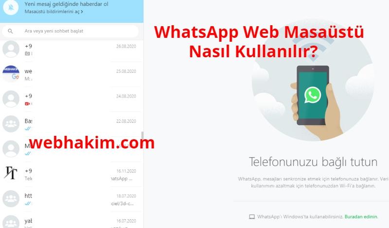 WhatsApp Web Masaustu Nasil Kullanilir