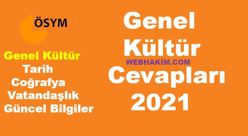 Genel Kultur Cevaplari 2021