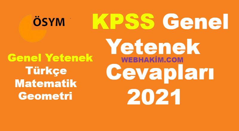 KPSS Genel Yetenek Cevaplari 2021