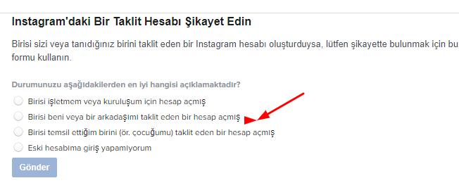 instagram hesap kapatma formu